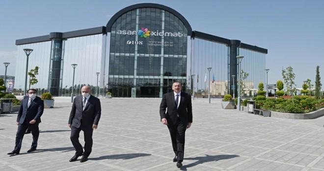 """Prezident İlham Əliyev """"ASAN xidmət""""in açılışına qatıldı- FOTO"""