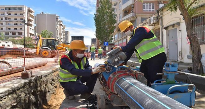 Bakının 5 rayonu üzrə 9 ünvanda infrastruktur yenilənir - Fotolar