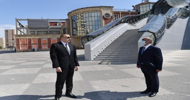 İlham Əliyev Bakıda yerüstü piyada keçidinin açılışında iştirak edib