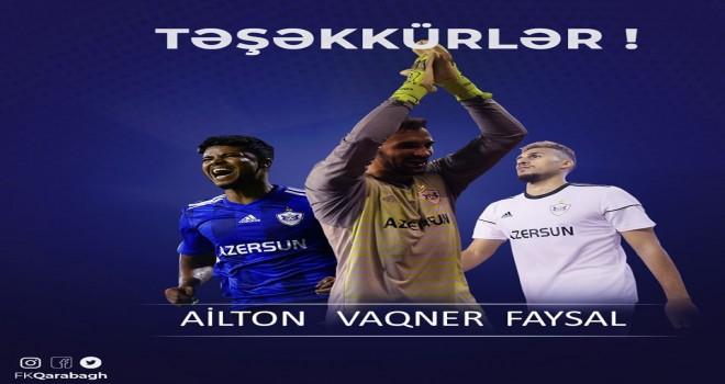 Qarabağ FK 3 futbolçu ilə yollarını ayırdı