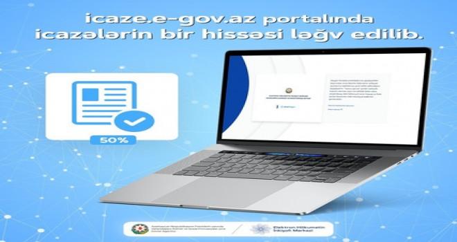 İcaze.e-gov.az portalında icazələrin bir hissəsi ləğv edilib