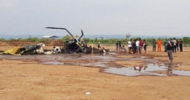 İndoneziyada hərbi helikopter qəzaya uğradı: 4 ölü, 5 yaralı - Video