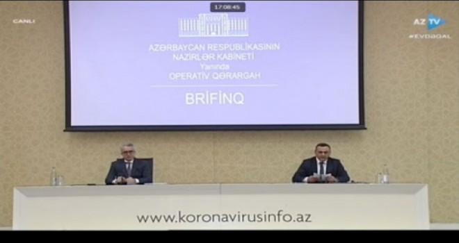 CANLI YAYIM!!! Hazırda Nazirlər Kabineti yanında Operativ Qərargah brifinq keçirir.