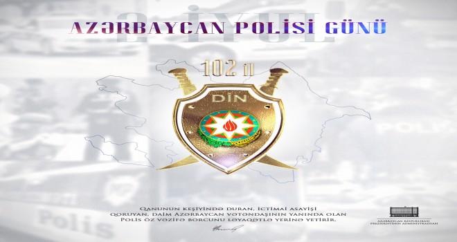 Prezident İlham Əliyevdən Azərbaycan Polis Günü ilə bağlı paylaşım