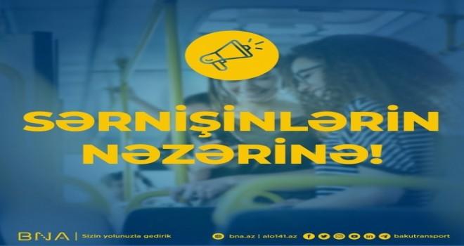 XƏBƏRDARLIQ!!! Sabahdan marşrut avtobuslarına maskasız minmək qadağan edilir