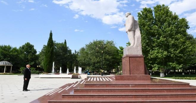 Prezident Samux rayonuna səfərə gədib