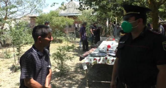 Hərbi xidmətdən qayıdan oğluna yığıncaq təşkil edən ata və qonaqları cəzalandırıldı - FOTO