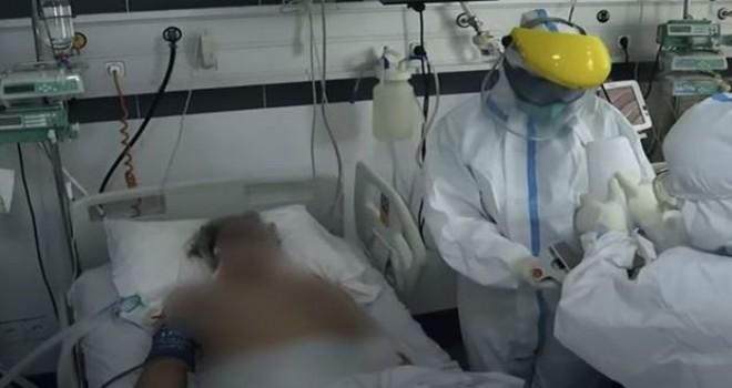 Çəkiliş zamanı koronavirus tutmuş xəstənin vəziyyəti ağırlaşdı - VİDEO