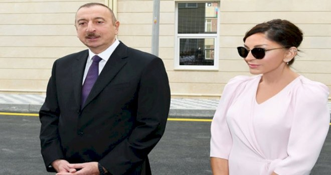 """Prezident və Xanımı """"Qobu Park-3"""" yaşayış kompleksinin açılışını etdi"""