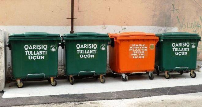 Zibil atmağa icazə veriləcək, binaların qarşısında konteynerlər olacaq