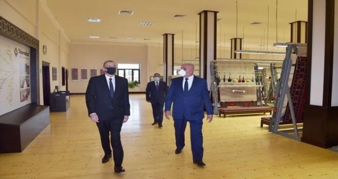"""İlham Əliyev """"Azərxalça"""" ASC-nin Tərtər filialı açılışında iştirak edib - FOTO"""
