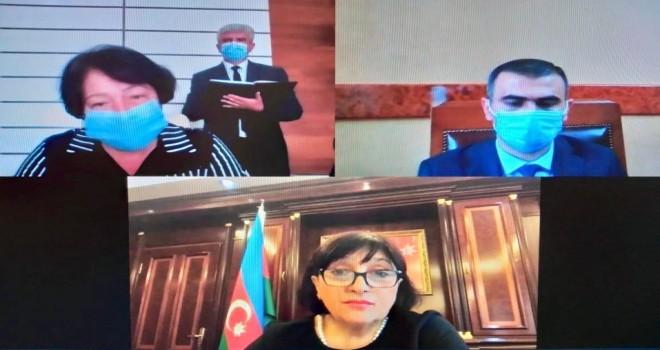 Milli Məclisin Sədri Sahibə Qafarova videokonfrans formatında seçicilərin növbəti qəbulunu keçirib