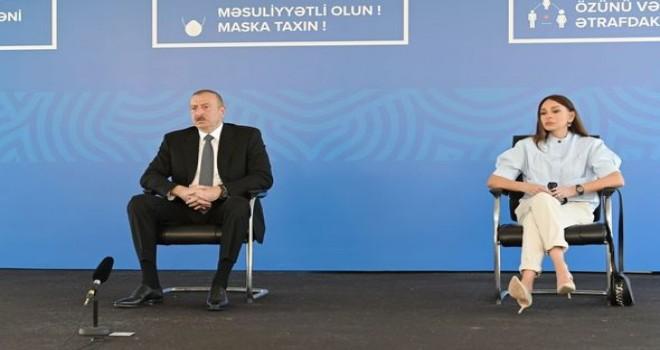 Prezident və xanımı üç modul tipli xəstəxananın açılışında - FOTO