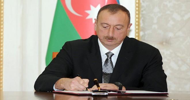 Prezident İlham Əliyev Fərman imzalayıb.