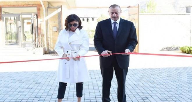 İlham Əliyev və Mehriban Əliyeva Sumqayıtda açılışda - FOTO